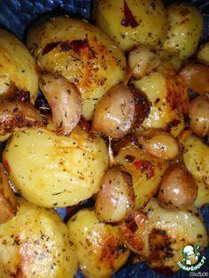 Запеченная острая картошка с чесноком ингредиенты