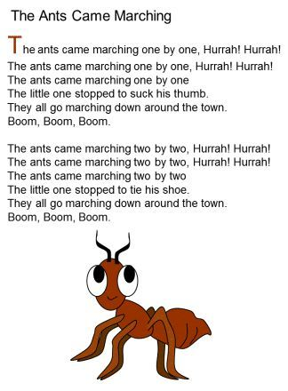The ANts came marching song lyrics Like and Repin. Thx Noelito Flow. http://www.instagram.com/noelitoflow