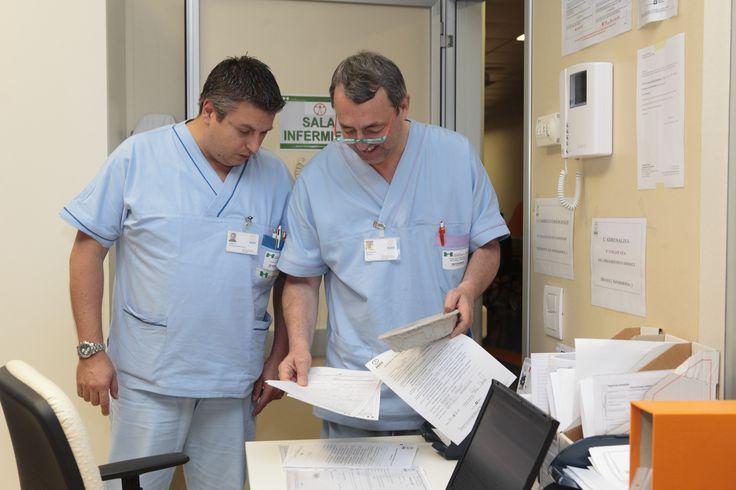 Andrea Todisco coordinatore infermieristico e Massimo Bettinelli responsabile DH