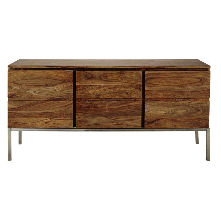 Solid sheesham wood sideboard W 165cm