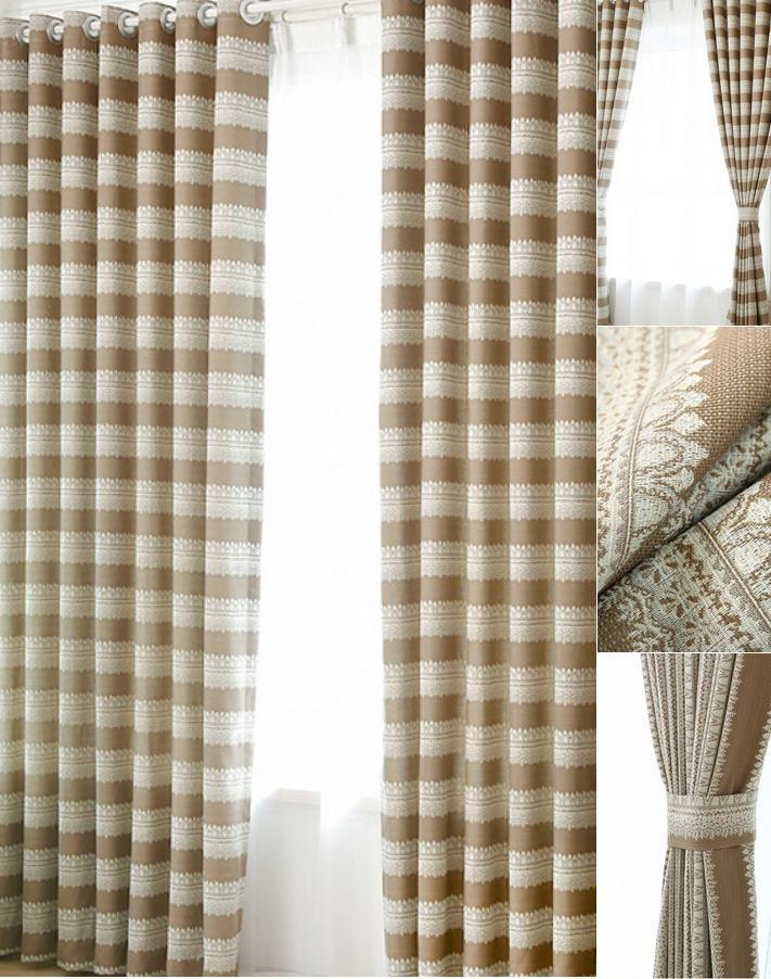 Horizontal Stripe Curtain  Home Design