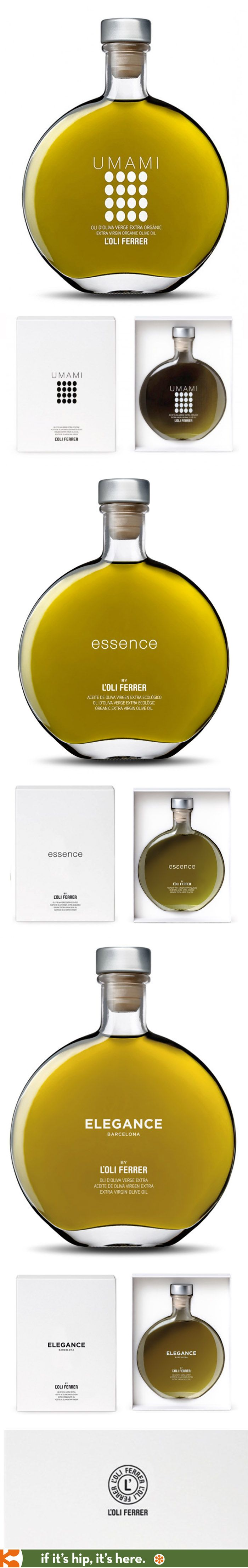 The olive oils from L'oli Ferrer are as beautifully designed and packaged as Chanel perfumes.
