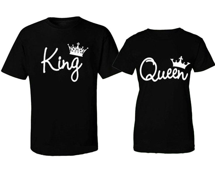 couple's tees king and queen now available at destiny castle, in black and grey contact us at below website