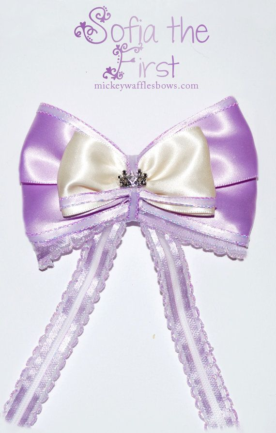 Sofia the First Hair Bow by MickeyWaffles on Etsy
