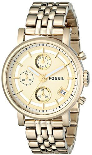 Fossil Women's ES2197 Gold-Tone Stainless Steel Watch with Link Bracelet Fossil http://www.amazon.com/dp/B001RTS2G2/ref=cm_sw_r_pi_dp_SyW6wb0XXVVK1