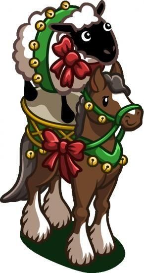 Farmville cheer ewe up horse ~ one of the best holiday marketing ads in 2012