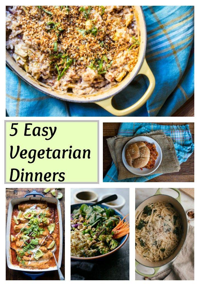 Weekly Vegetarian Menu 2 5 Easy Vegetarian Dinners Vegetarian Dinners Vegetarian Meal Plan Easy Vegetarian