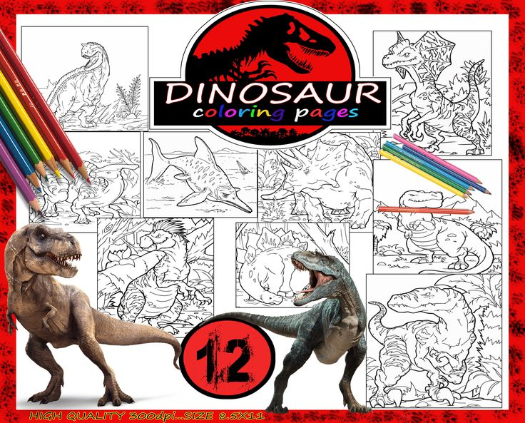 Dinosaurs Coloring Pages PagesKids PagesColoring For Boys PrintingJurassic Park