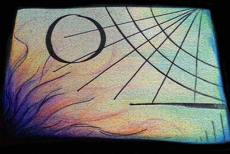 Abstract artwork. Energy and life.
