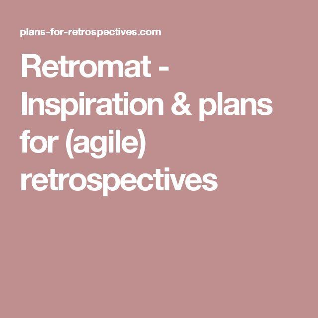 Retromat - Inspiration & plans for (agile) retrospectives