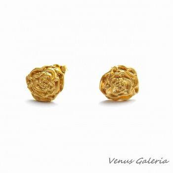 Kolczyki różyczki II pozłocne#róże#złoto#srebro#www.galeria.sklep.pl#sklep z biżuterią#biżuteria#silver#jewellery#