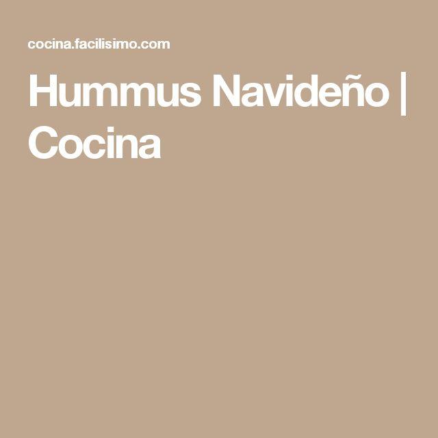 Hummus Navideño | Cocina
