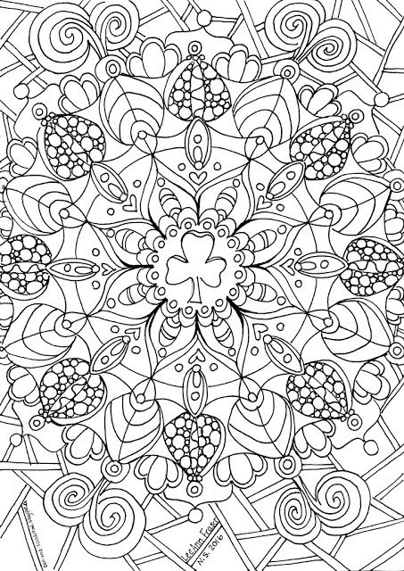 """Mandala Trefoil"" doodle by Lee Ann Fraser 2016 Owl & Toadstool: Girl Guides and Scout Doodles"