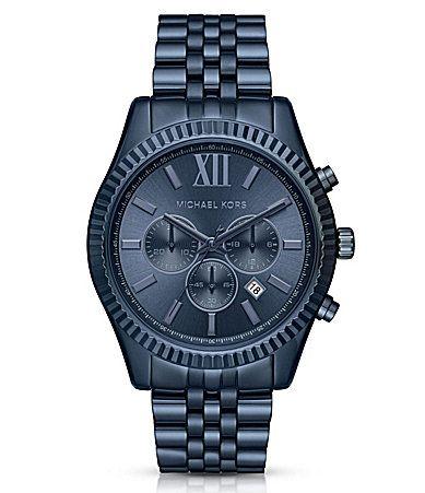 Michael Kors Lexington Chronograph and Date Bracelet Watch #Dillards