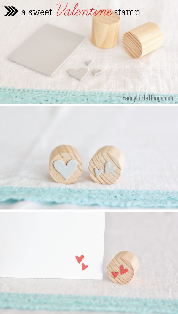 sweet, sweet DIY stamp.- easy!! You could even glue the stencil to the bottom of a cork to make it even more cost friendly :)