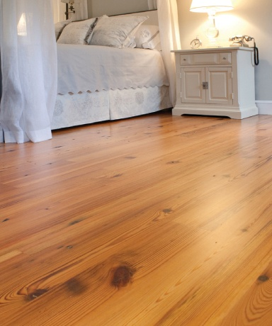 Reclaimed Heart Pine Flooring - always reminds me of my Papa