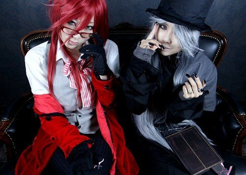 Black butler Grell and Undertaker cosplay (corrected)