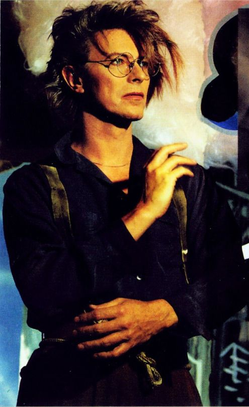 David Bowie in glasses