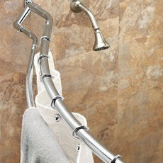 This Is An Interesting Looking Curved Double Shower Curtain Rod Rods Pinterest