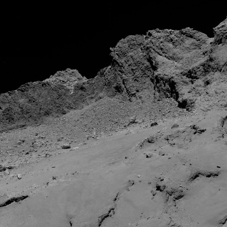 A new image of comet 67P/Churyumov-Gerasimenko was taken by the European Space Agency's Rosetta spacecraft shortly before its controlled impact into the comet's surface.