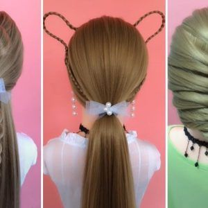 Top 5 Quick & Easy Hairstyles Tutorials For Girls! Hairstyles for School! #16