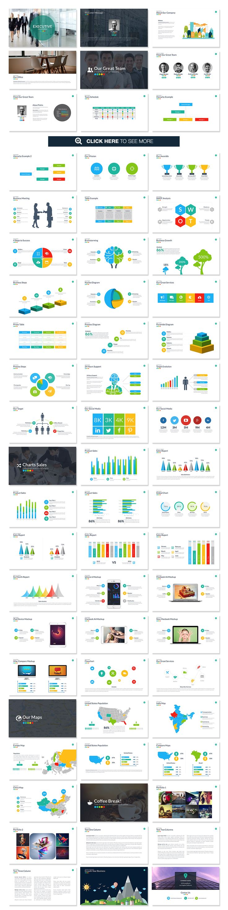 Executive Powerpoint Template by Slidedizer on Creative Market