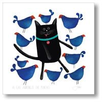 Cat Amongst The Pukeko by Red Ink Design - blocks