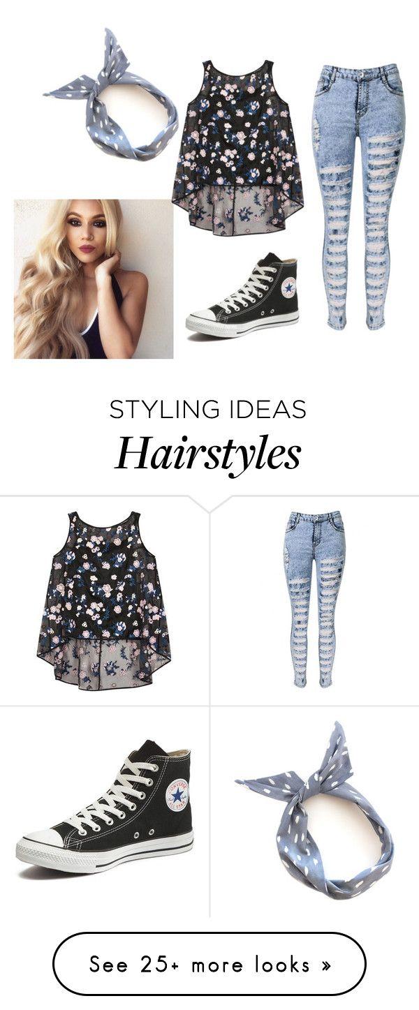 AQUÍ  •Blusa tipo chemise sin mangas de estampado floreado •jean claro