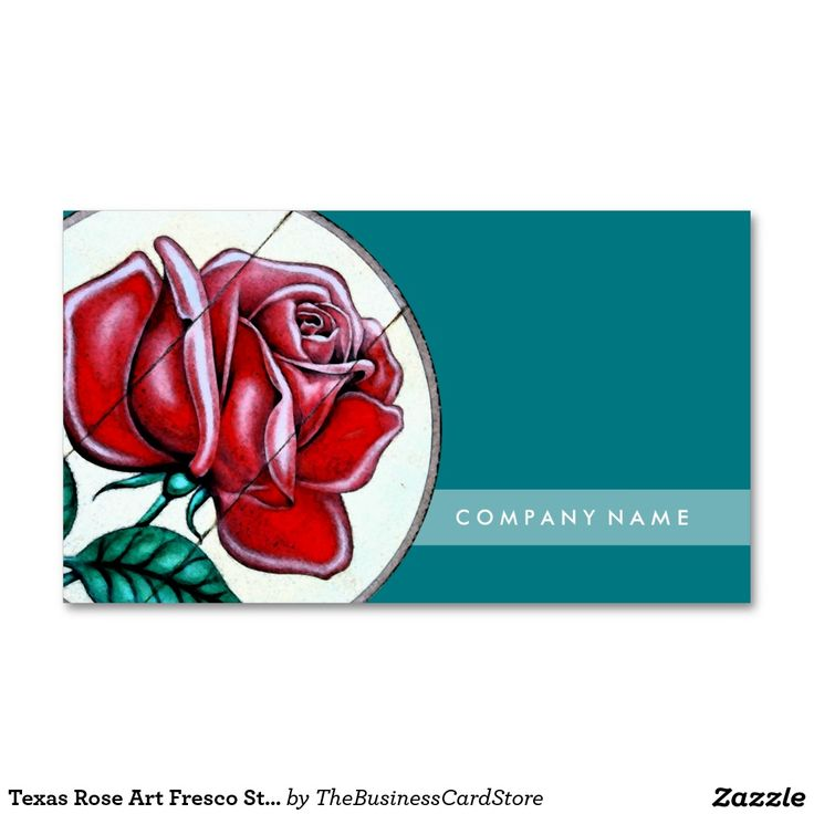 Texas Rose Art Fresco Style Standard Business Card