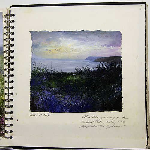 Oil paintings gallery - Amanda Hoskin sketchbook- Evening Sky