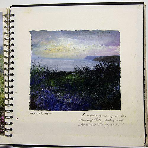 Oil paintings gallery - Amanda Hoskin sketchbook- Evening Sky