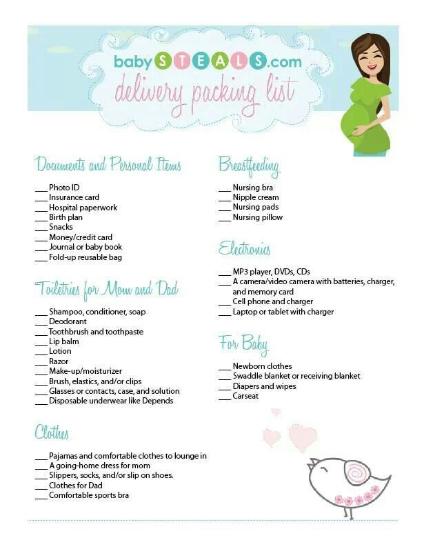 89 best hospital bag images on Pinterest Pregnancy, Baby - packing slip