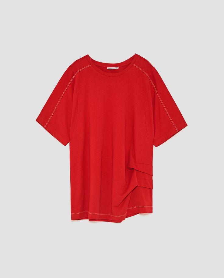 ZARA的图片 8 名称拼接府綢 T 恤