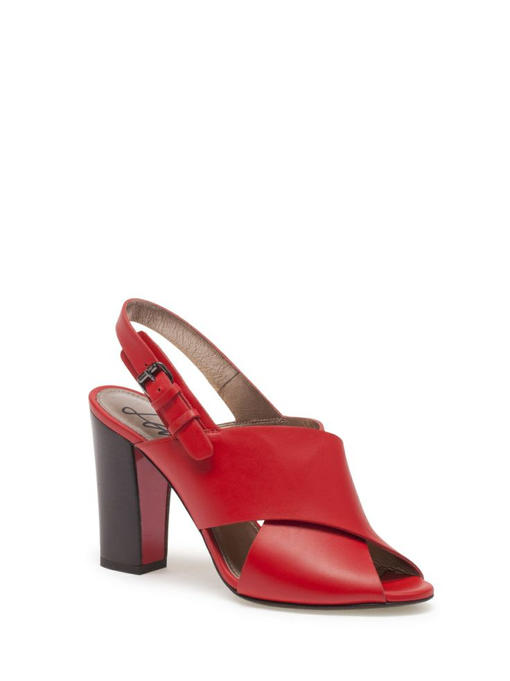 Lanvin - SANDAL - AW5E2CNARP8A - Calfskin sandal with 4.3 in heel and 0.4  in platform