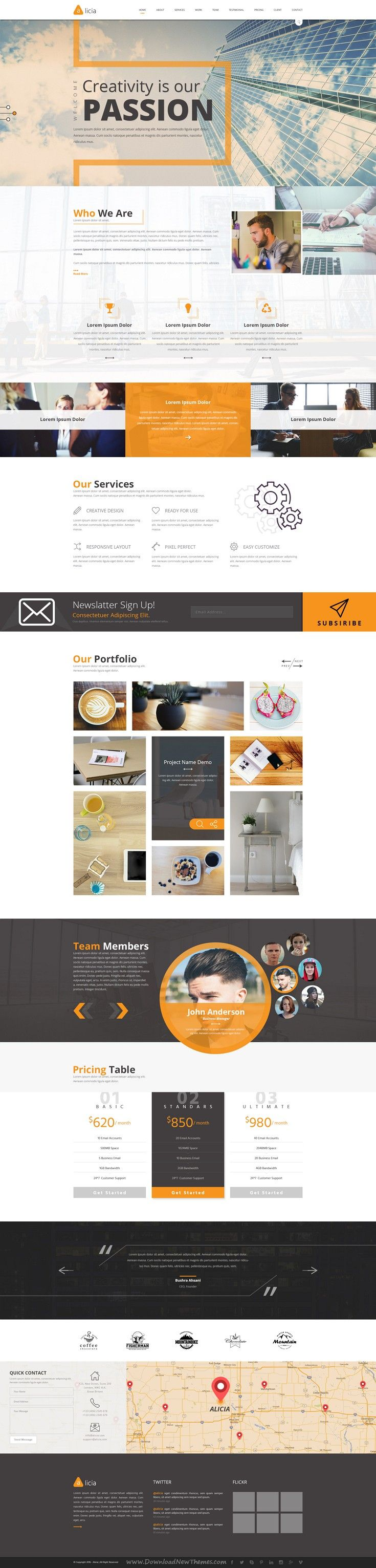 Alicia is a modern multipurpose PSD template with 3 different homepage layouts…