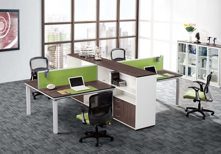 Is This Too Big I Like Layout Modern Office Furniture 4 Person