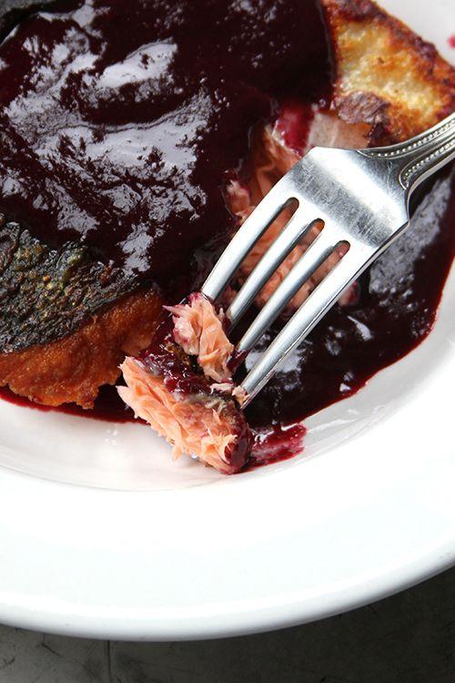 Summer Salmon with Blackberry-Wine Sauce | Blackberry ...