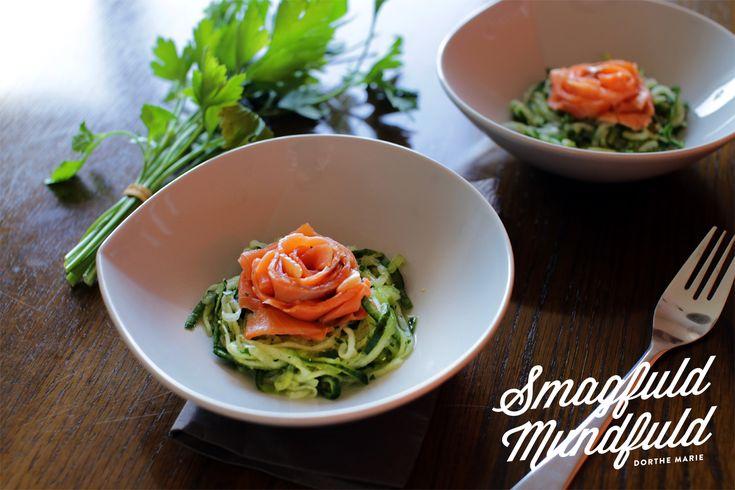 Appetizer - agurk og røget ørredfilet