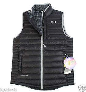 UNDER-ARMOUR-STORM-COLDGEAR-QUILTED-MENS-BLACK-VEST-JACKET-Multisizes