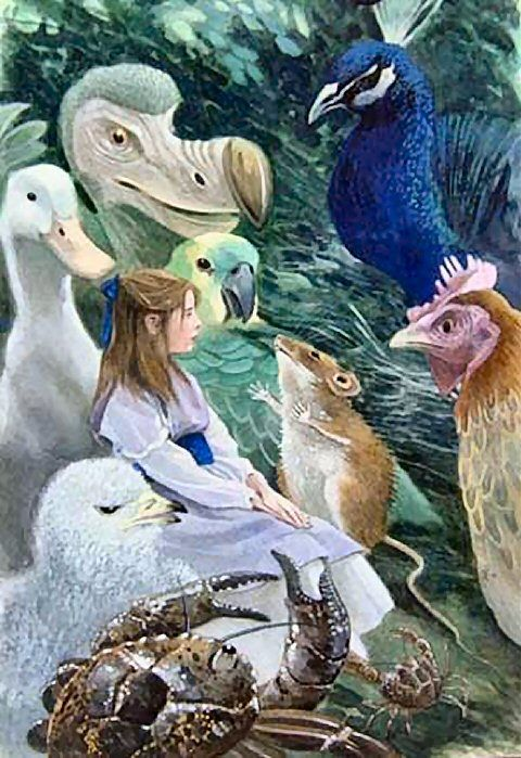 """Alice In Wonderland""~ A Caucus-Race And A Long Tale -Written by Lewis Carroll - An English Fairy Tale (1865)"