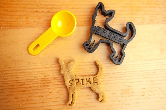 Chihuahua Dog Cookie Cutter Custom Treat by NameThatCookie on Etsy  For Punkin! So cute!