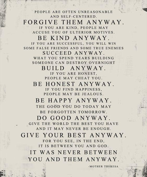 Mother Teresa Quotes Love Anyway Endearing Ponad 25 Najlepszych Pomysłów Na Pintereście Na Temat Mother