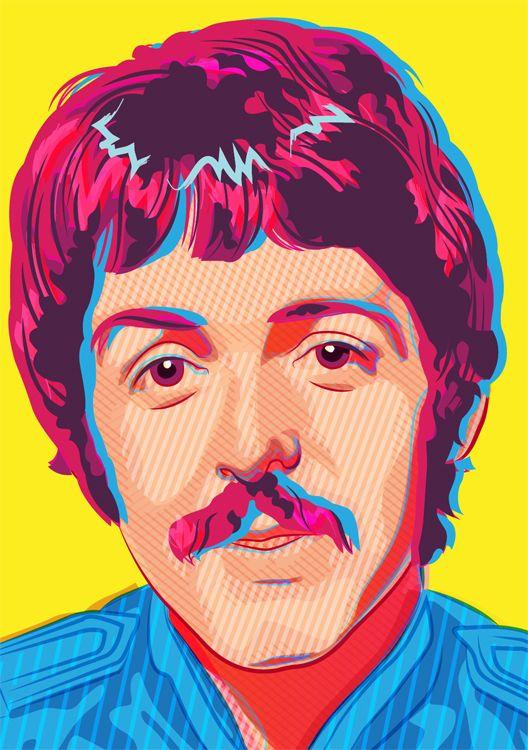 The Beatles - Sgt Pepper by Joe Murtagh, via Behance