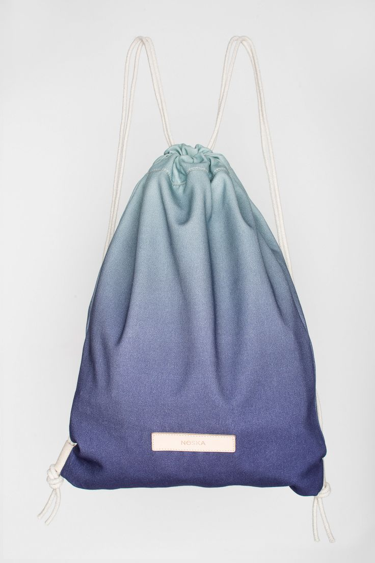 Northern Light | NOSKA SHOP #Northern #Light #Rucksack #NorthernLight #NavyBlue #OpalBlue #drawstring #bagpack