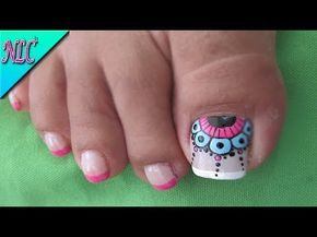 Diseño de uñas Pies Mandalas - Mandala Toenail Art - YouTube