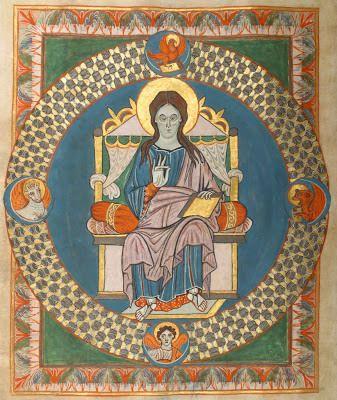 Codex de Gero. Abbaye de Reichenau. Darmstadt. Bibl. de Hesse. Composé peu avant 970, au début du règne des Ottoniens.