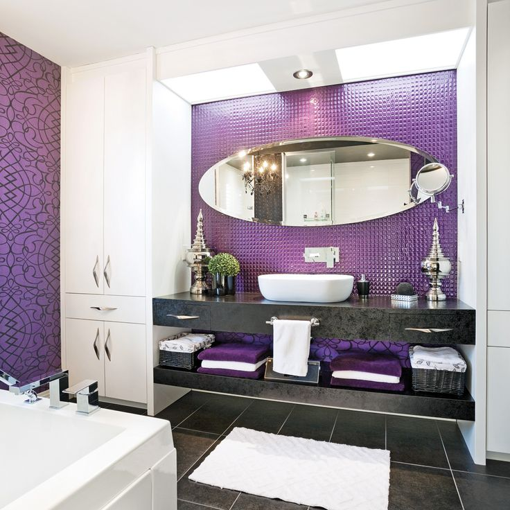 inspiration salle de bain mauve. Black Bedroom Furniture Sets. Home Design Ideas