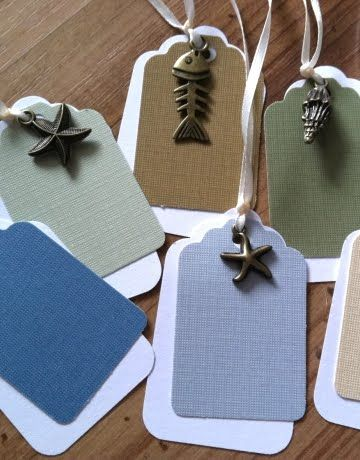 Charms on tags. Ooooh! Could use paint color sample paper for colors! Free…