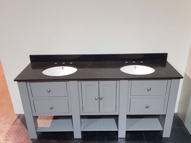 Painted Bathroom Luxury Wash Stand 1600mm Granite Top with Undermount Basins #HarveyGeorge