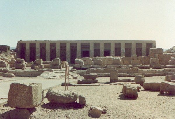 Temple of Seti I at Abydos, the city held the kings of the pre-dynastic era and…